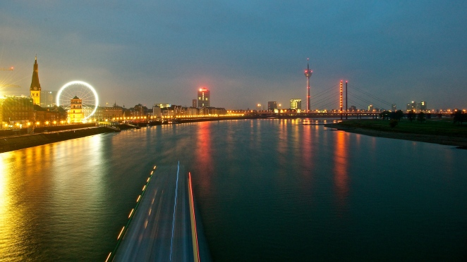 Düsseldorf an early morning in November