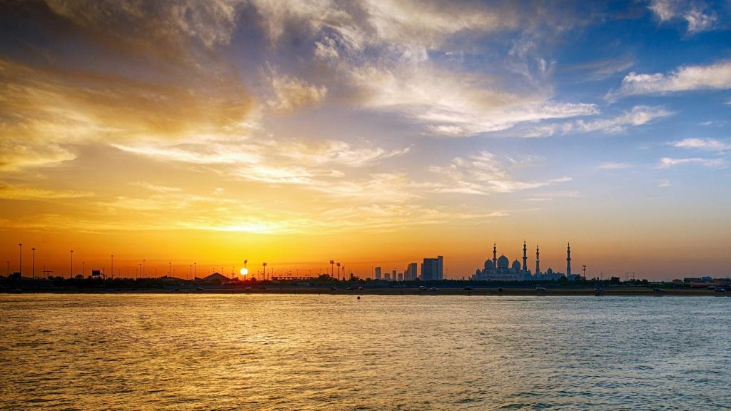 Grand Mosque Sun Set