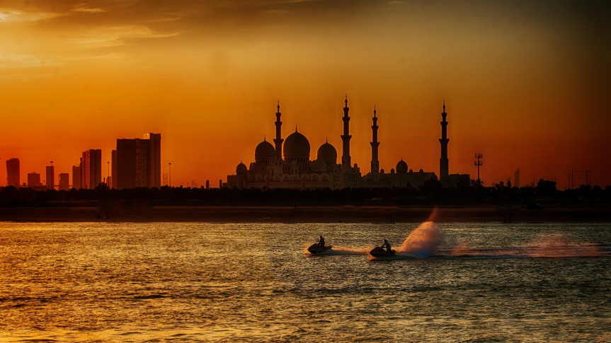 Jet Skiers near Grand Mosque 001