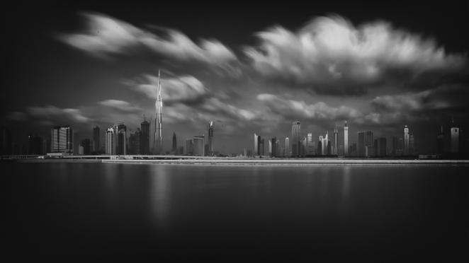Dubai Cloudy Morning